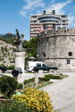 纪念碑Mujo Ulqinaku在都拉斯阿尔巴尼亚 免版税库存照片