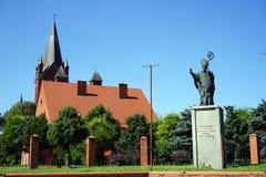 纪念碑Pomnik Sw Wojciecha 图库摄影