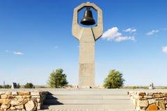 纪念碑Rossoshka公墓的追悼的母亲 免版税库存照片