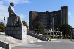 纪念碑Tsyolkovsky 图库摄影