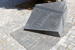 纪念碑Zegota在华沙 库存照片