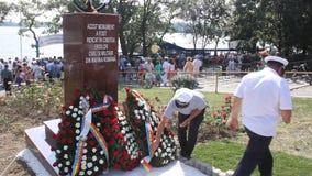 以纪念罗马尼亚海军的英雄的纪念碑 库存图片