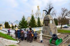 以纪念胜利的纪念碑在战争中1812在Kobrin,白俄罗斯 免版税库存照片