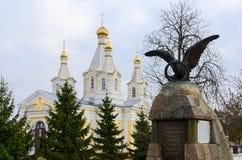 以纪念胜利的纪念碑在战争中1812, Kobrin,白俄罗斯 免版税库存图片