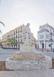 纪念船员雕象伊维萨岛 免版税库存图片