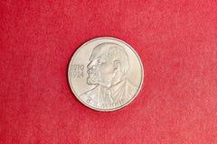 纪念苏联硬币一卢布致力了列宁 库存照片