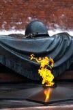 纪念莫斯科战士未知 免版税库存照片