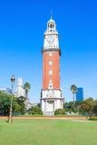 纪念钟塔,布宜诺斯艾利斯 库存照片