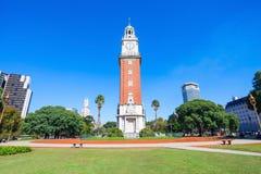 纪念钟塔,布宜诺斯艾利斯 图库摄影