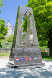 纪念韩战的退伍军人 免版税库存图片