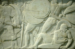 纪念300个希腊的英雄 库存图片