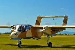 纪念Airshow 葡萄酒罗克韦尔OV-10野马光攻击机 免版税库存照片