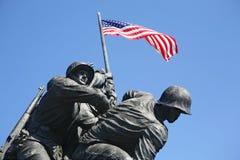 纪念Iwo Jima的海军陆战队员 库存图片