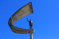 纪念JK -未来派巴西总统Memorial Statue 库存照片
