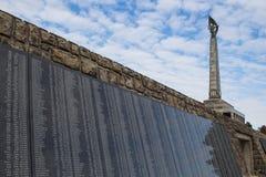 纪念Slavin在布拉索夫,斯洛伐克 图库摄影