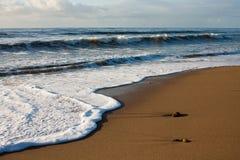 纬向条花海滩corsive de la monts 图库摄影