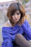 纯亚裔美丽的女孩 免版税库存照片