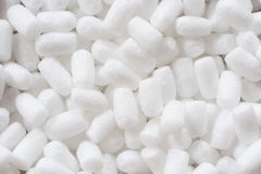 纯净的白色蓬松包装材料 库存图片