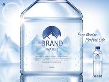 纯净的矿泉水广告 皇族释放例证