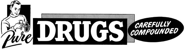 纯净的药物 库存例证