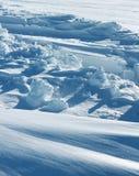 纯净的北极雪形成 免版税库存照片