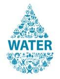 纯净的水概念性背景  库存照片