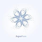 纯净的水色 秀丽水商标设计 水是健康 免版税库存照片
