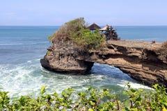 纯净的tana全部寺庙-巴厘岛印度尼西亚 图库摄影