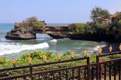 纯净的tana全部寺庙-巴厘岛印度尼西亚 库存照片