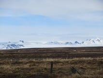 纯然的冰岛风景在春天 库存照片