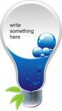 纯电灯泡的想法 免版税库存照片