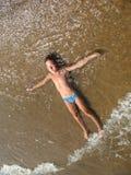 纯的海滩 免版税库存图片