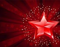 纯红色星形 免版税库存图片