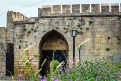 纳伦Kala堡垒在Derbent 免版税库存图片