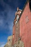 贝纳全国宫殿,帕拉西奥de Pina墙壁在辛特拉, Portug 免版税库存照片