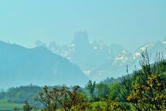 纳兰霍de Bulnes风景 图库摄影