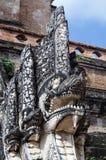 纳卡人雕象,清迈 免版税库存照片