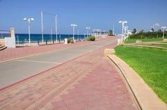 纳哈里亚沿海线  库存照片