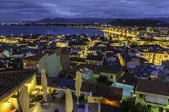 纳夫普利翁市从上面 免版税库存图片