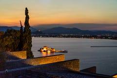 纳夫普利翁的Bourtzi堡垒 免版税库存图片