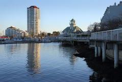 纳奈莫港口江边,不列颠哥伦比亚省 免版税库存照片