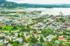 纳姆索斯,挪威 免版税库存图片
