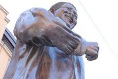 纳尔逊・曼德拉雕象 库存图片