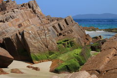 纳尔逊海湾岩石 库存照片