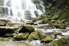 纳尔逊瀑布在塔斯马尼亚岛 库存照片