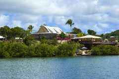 纳尔逊的造船厂在安提瓜岛,加勒比 库存图片