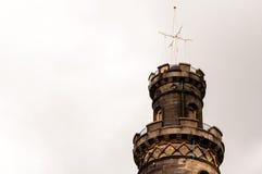纳尔逊纪念碑在爱丁堡 免版税库存图片