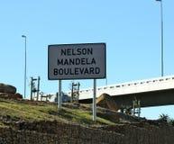 纳尔逊・曼德拉大道标志,开普敦 免版税图库摄影
