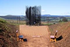 纳尔逊・曼德拉金属雕塑捕获站点的在Howick 免版税图库摄影