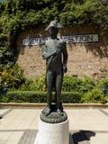 纳尔逊ALMIRAL的直布罗陀雕塑 库存照片
